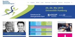 Bild Screenshot Website Sportärztekongress