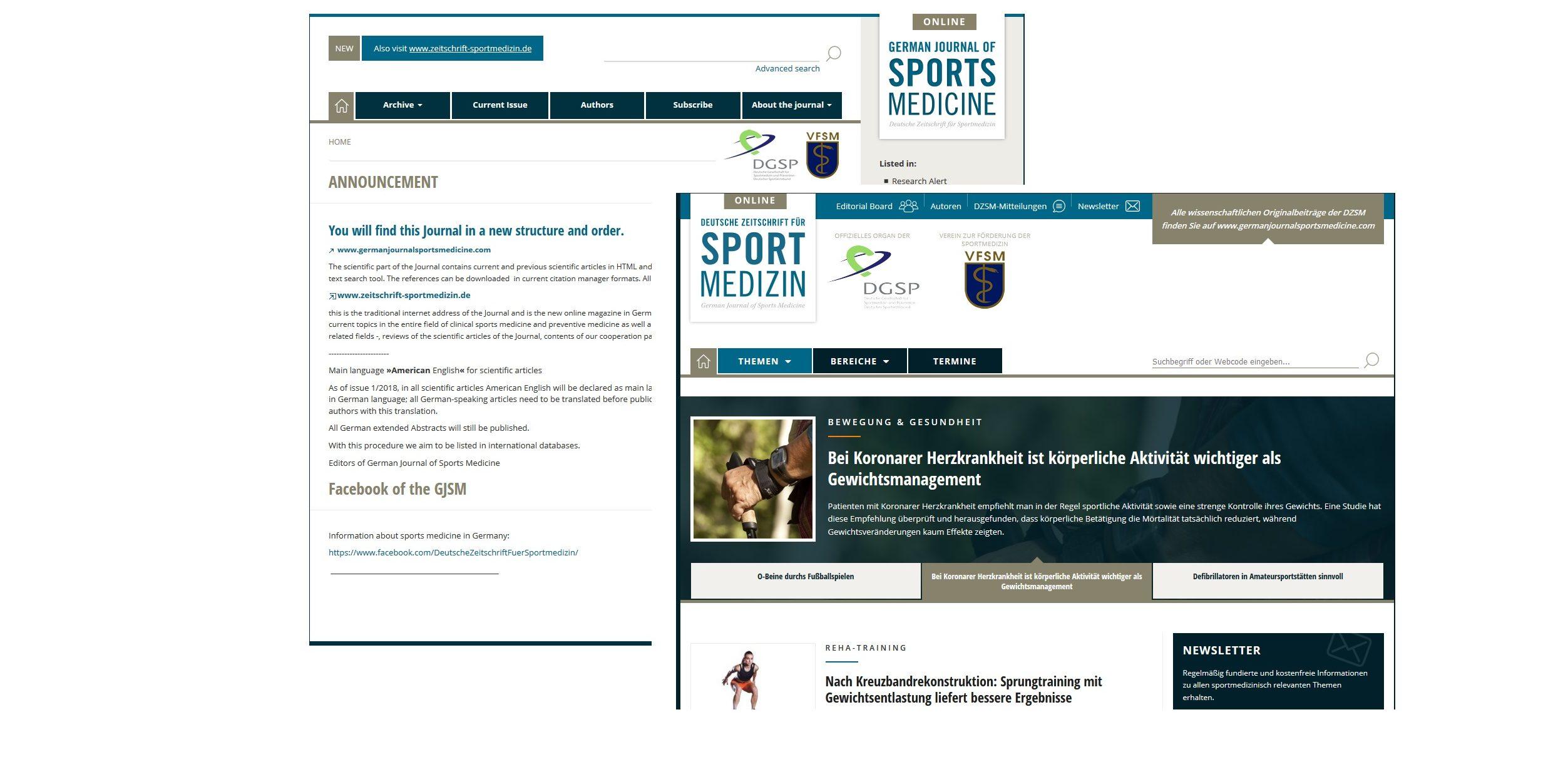 Eine Zeitschrift für die deutsche Sportmedizin – ein Forum für die sportmedizinische Praxis und für die Wissenschaft