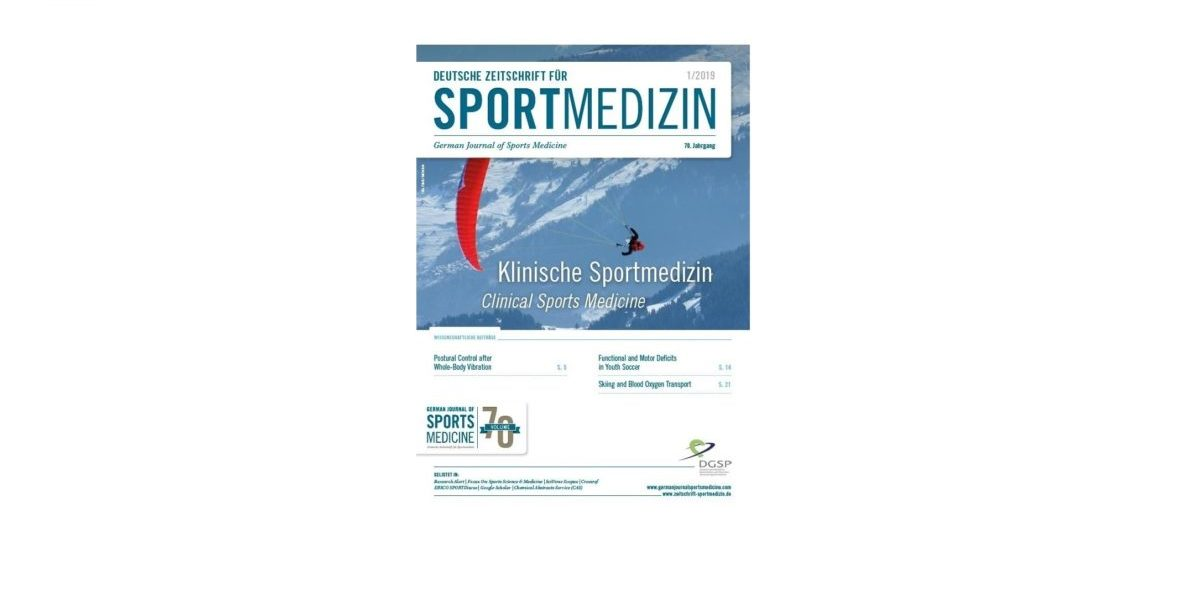 Förderpreis / Travel Award 2019: Deutsche Zeitschrift für Sportmedizin / German Journal of Sports Medicine