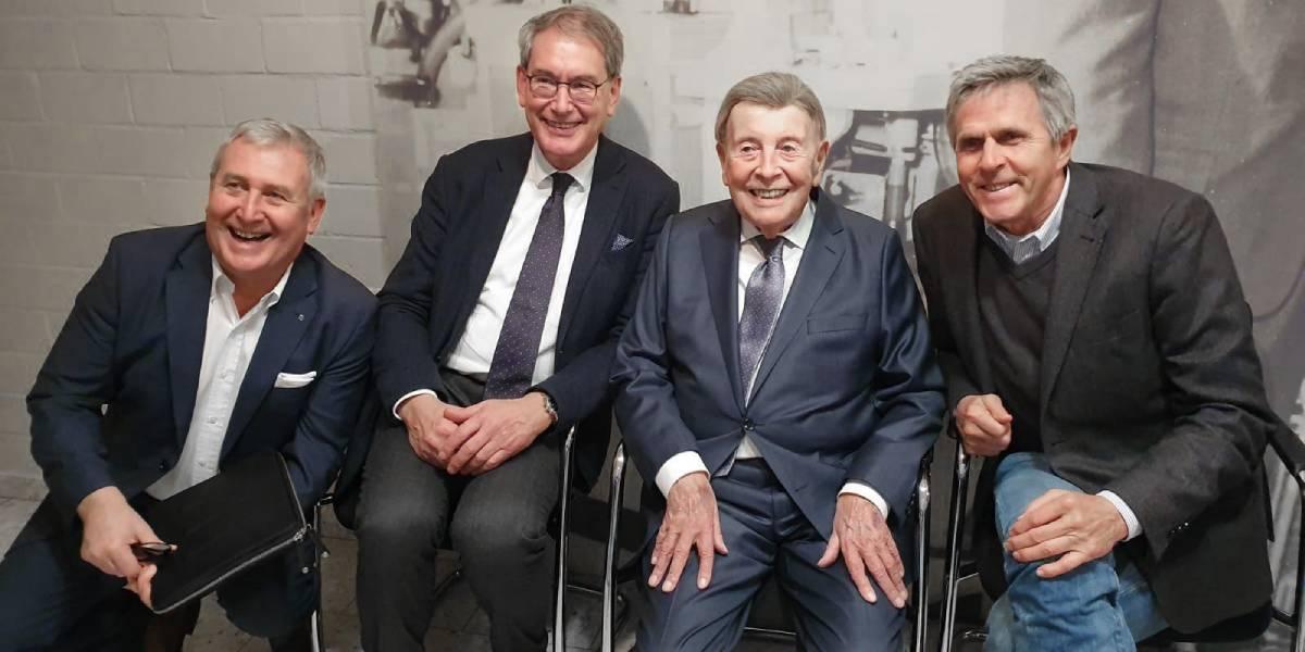 Prof. Hans-Georg Predel, Prof. Jürgen M. Steinacker, Prof. Wildor Hollmann und Prof. Klaus-Michael Braumann