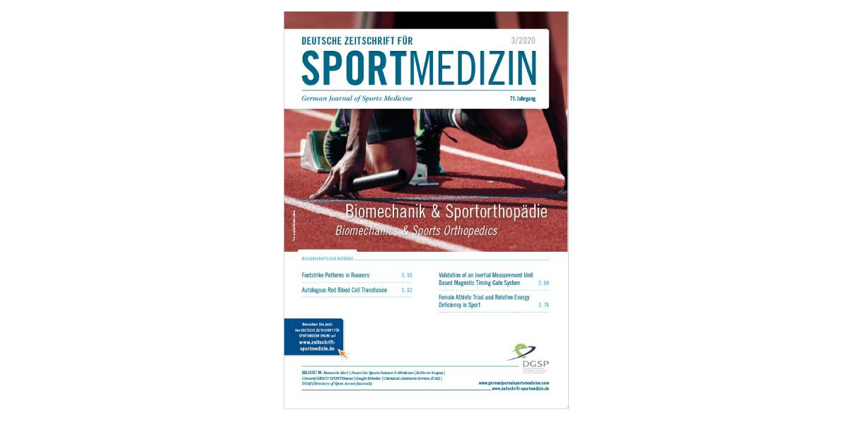 Förderpreis / Travel Award 2020 – Deutsche Zeitschrift für Sportmedizin / German Journal of Sports Medicine
