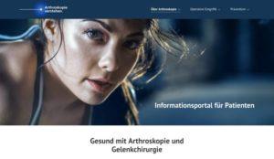 Website Arthroskopie verstehen
