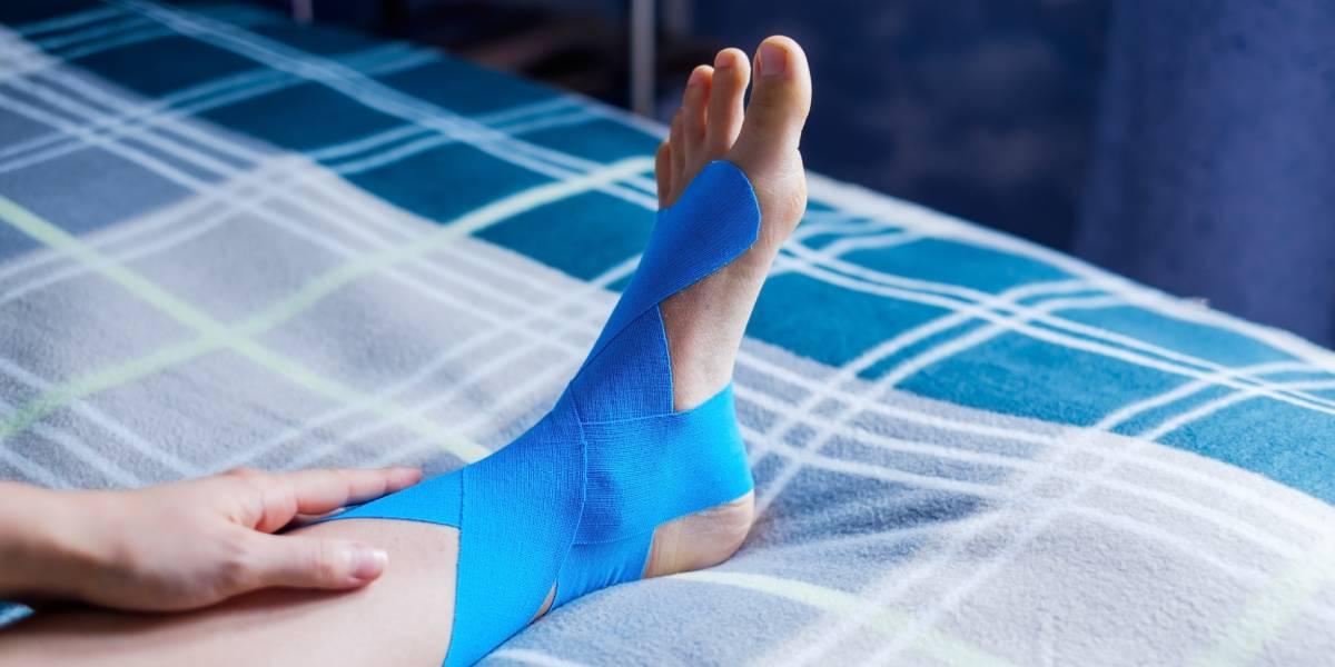 Kinetische Effizienz von Taping bei chronischer Sprunggelenks-Instabilität
