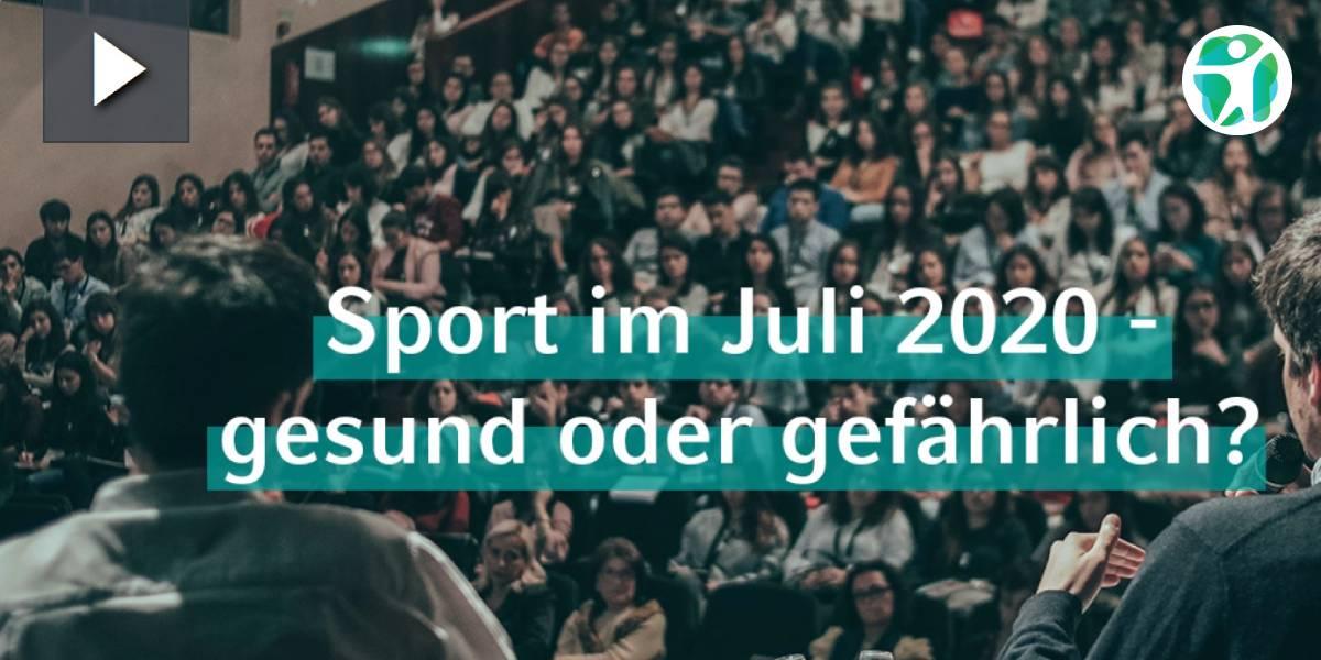 SMHS talks: Experten diskutieren über Sport im Corona-Sommer 2020