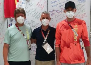 Andrew Lichtenthal und Niklas Kaul wurden vom Bauerfeind-Techniker Luis Ramon Molla betreut.